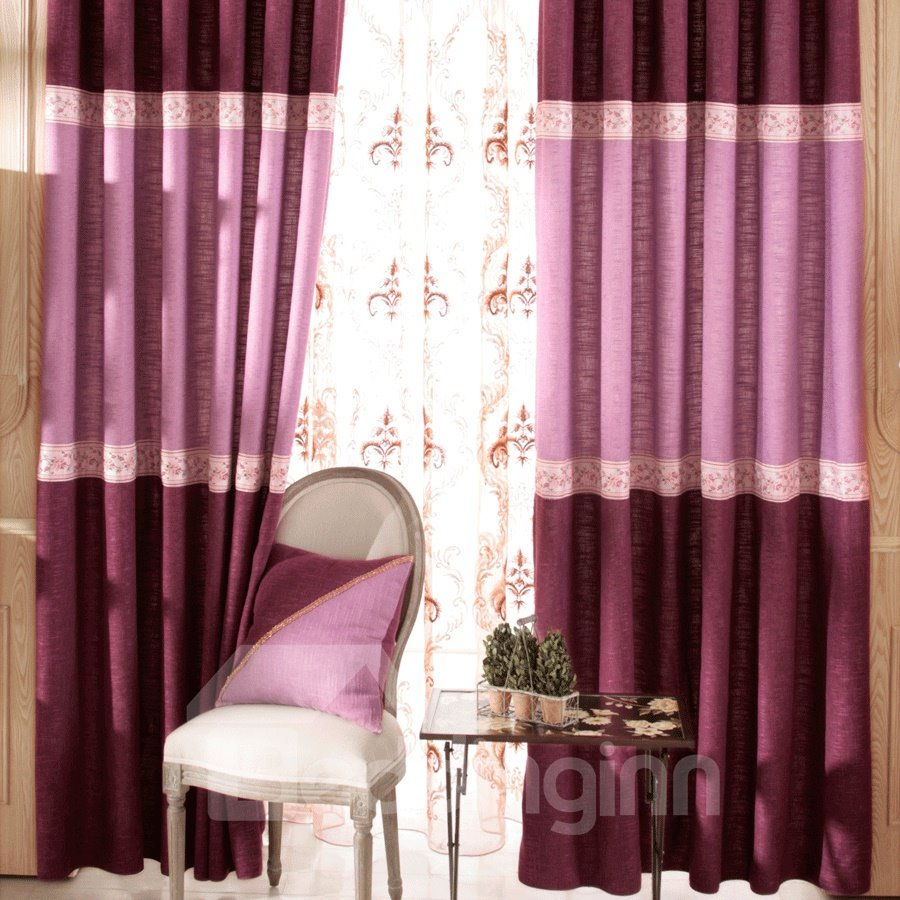 Grand Rose Red Matching Pink Color Grommet Top Custom Curtain 10982615