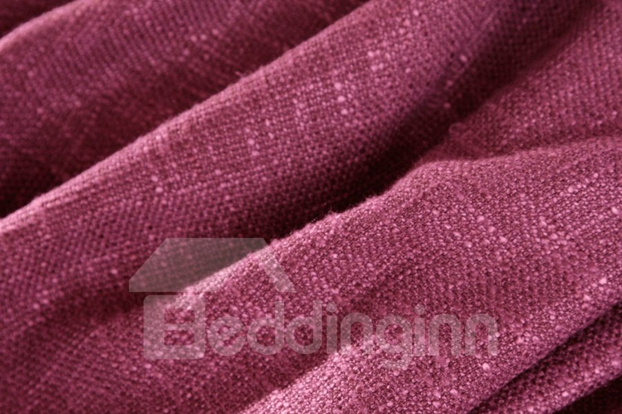 Grand Rose Red Matching Pink Color Grommet Top Custom Curtain