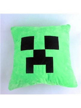 High Quality Fancy Green Plush Throw Pillow