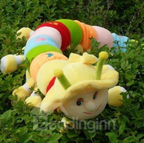 Quality Colorful Cute Carpenterworm Shape Pillow