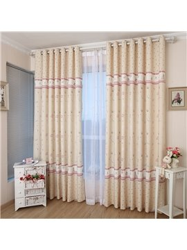Best Selling Romantic Sun and Sea Breeze Yellow Custom Curtain