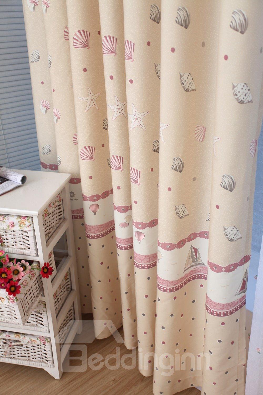 Best Selling Romantic Sun and Sea Breeze Yellow Custom Curtain
