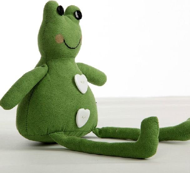 Adorable Lilike Frog Shape Plush Green Pillow
