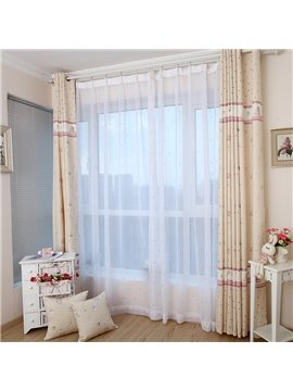 Best Selling Pretty Sun and Sea Breeze Yellow Custom Sheer Curtain