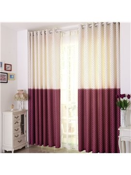 High Quality Lovely Stars Printing  Stitching Color Design Custom Curtain
