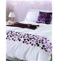 Pretty Pink Flower Embroidery 4-Piece Cotton Duvet Cover Sets