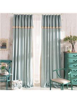 Top Class Elegant Green Grass Lawn Design Double Pinch Pleat  Curtain