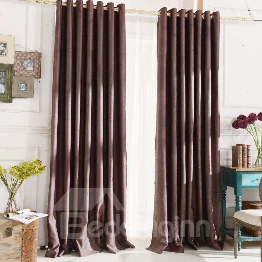 Top Class Elegant Coffee Grass Lawn Design Without Shade Head Curtain