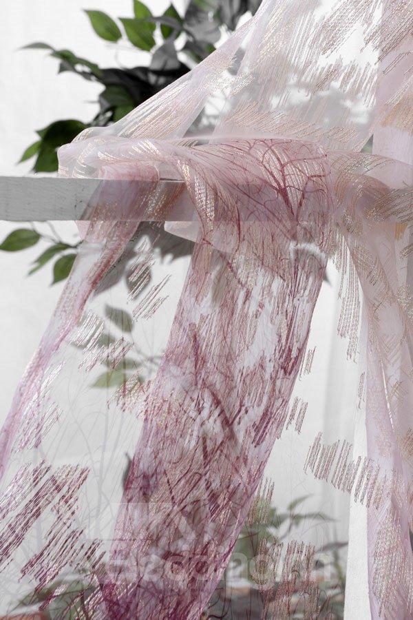 New Classic Modern Single Open Eternal Tree Purple Custom Sheer Curtain