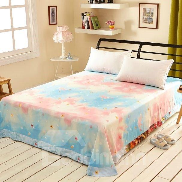Gorgeous Vibrant Mole World Print Full Cotton Sheet 10983508