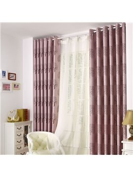 New Classic Modern Double Open Grommet Top Purple Custom Curtain