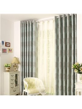 New Style Classic Blue Grommet Top Two Pieces Custom Curtain