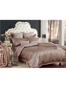 Noble Elegant Melody Jacquard 4-Piece Cotton Duvet Cover Sets