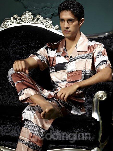 New Style Fashion Elegant Short Sleeve Sleepwear for Man