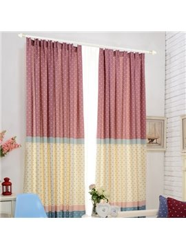 Top Quality Color Stars Pattern Double Pinch Pleat Curtain