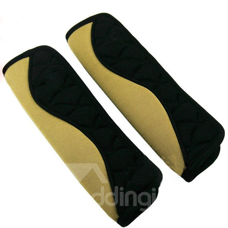 Extended Pair of Wave-Like Stripe Car Seat Belt Cover