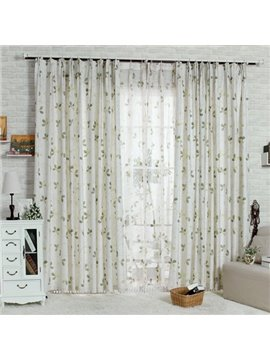 Best Selling Wonderful Four-Leaf Clover Double Pinch Pleat Curtain