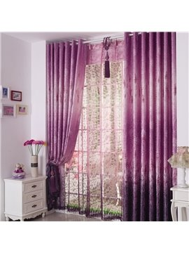 Romantic Elegant Purple Lavender Pattern Custom Curtain