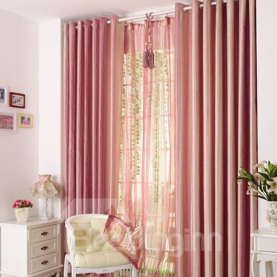 Vibrant Pink Mauve Grommet Top Custom Curtain 10984783
