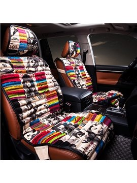 Fashion Trends Girls' Face and Bright Color Pattern Car Seat Cover