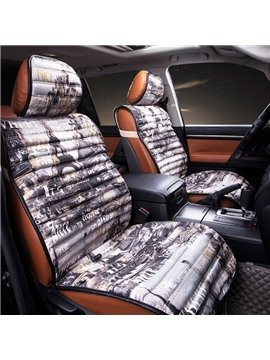Romantic Paris Castle and Letters Car Seat Cover