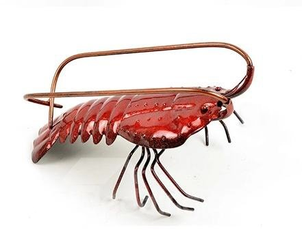 New Style Wonderful Iron Electroplate Lobster Wine Rack