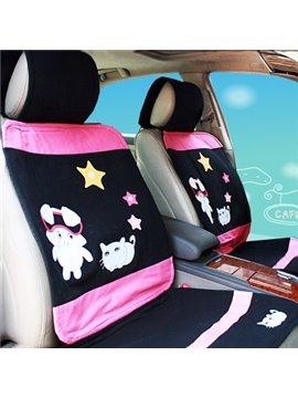 Super Cute Girl and Animals Car Seat Cover