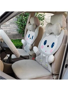 Super Soft Gray Cute Cat Car Seat  Cover