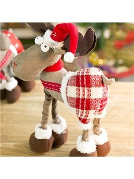 New Style Beautiful Christmas Check Deer Decoration