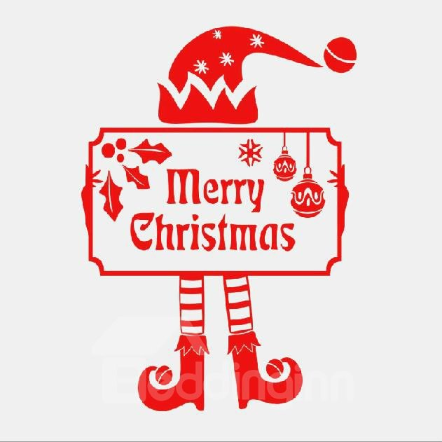 New Style Lovely Clown Christmas Gift Wall Stickers