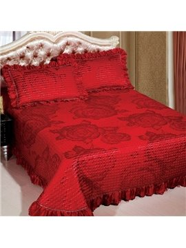 Fashion Elegant Rose Jacquard Print Bed in a Bag Set