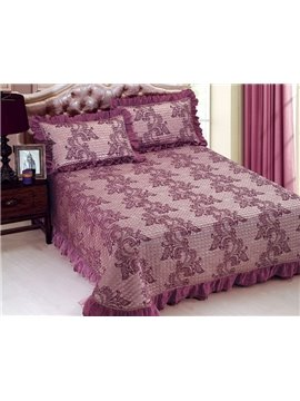 Quality Adorable Floral Print Purple Bed in a Bag Set