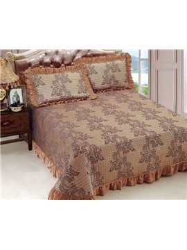 Fancy Floral Jacquard Print Bed in a Bag Set