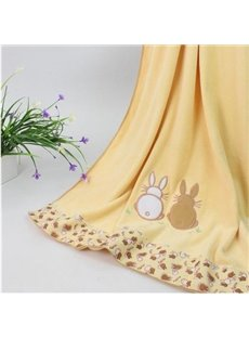 New Arrival Fabulous Lovely Khaki Rabbit Design Bath Towel
