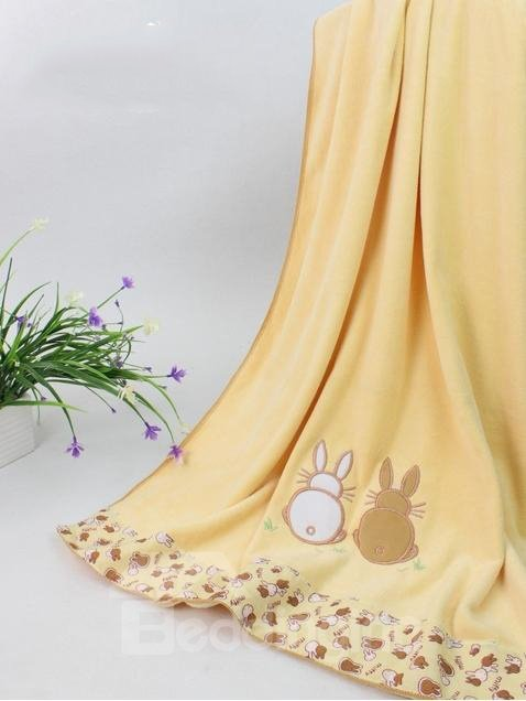 New Arrival Fabulous Lovely Khaki Rabbit Design Bath Towel