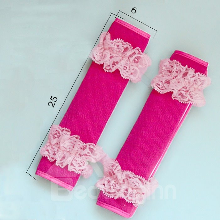 Fantastic A Pair Lace Stripe Pattern Car Seat Belt Cover