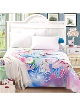 Newest Amazing Lily Print Full Cotton Sheet