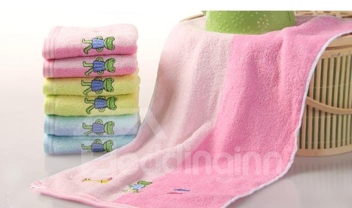 New Arrival Lovely Cute Frog Pattern Full Cotton Towel
