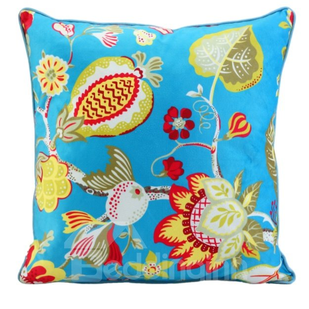 Quirky Throw Pillows : High Quality Flower and Branch Throw Pillow - beddinginn.com