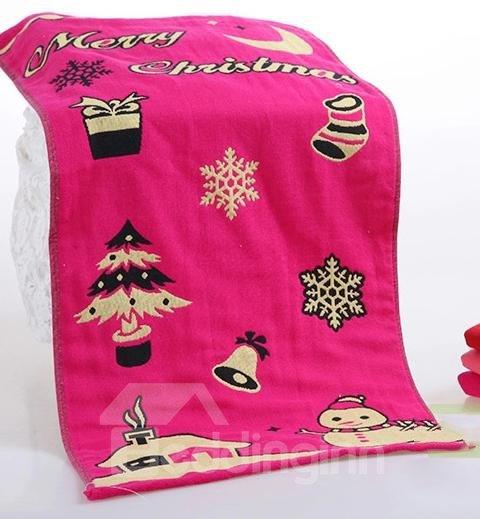 High Quality Merry Christmas Pattern Christmas Gift Towel