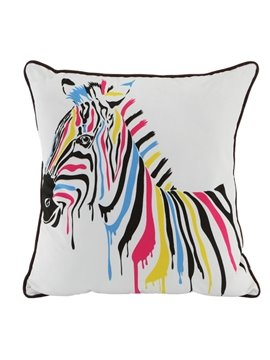 Unique and Concise Stripe Horse Pattern Throw Pillow