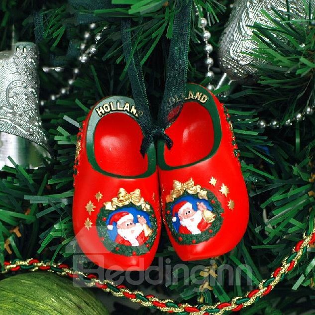 New Arrival Creative Shoes Pattern Christmas Gift Trees Decoration