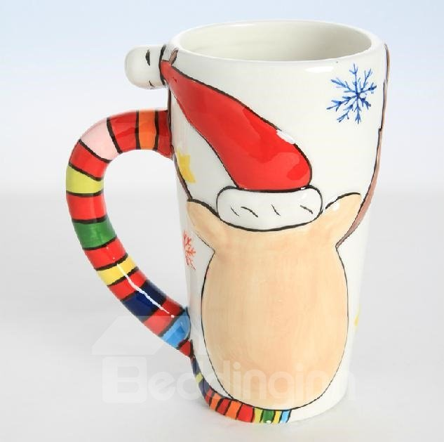 New Style Fabulous Creative Elk Pattern Christmas Gift Mug