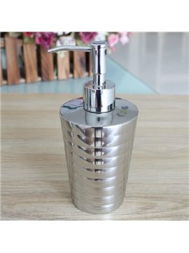 High Quality Unique Wale Design Stainless Steel Lotion Bottle