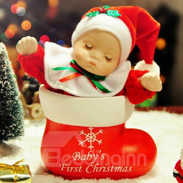 New Arrival Lovely Doll And Boote Design Christmas Gift Music Box 10990609
