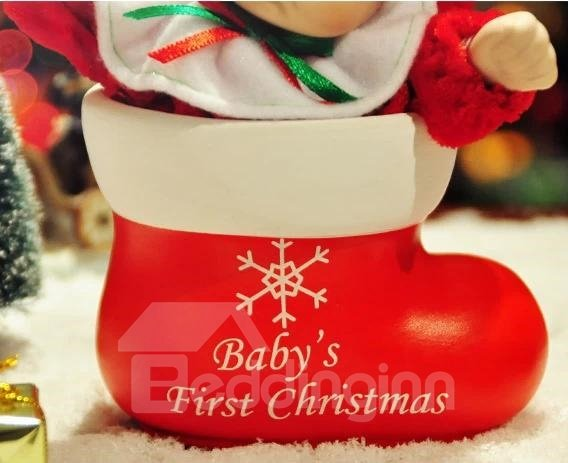 New Arrival Lovely Doll And Boote Design Christmas Gift  Music Box