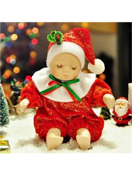 New Arrival Lovely Doll Design Jingle Bells Song Christmas Gift  Music Box