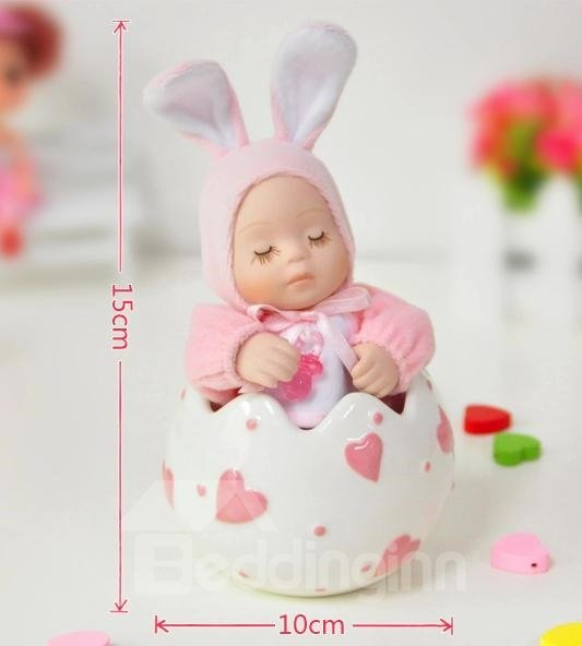 New Arrival Lovely Pink Rabbit And Heart Design Cradlesong Song Music Box