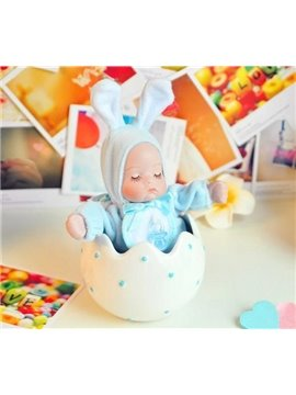 Lovely Rabbit And Dots Design Castle in The Sky Song Music Box