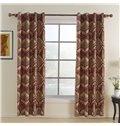 Mediterranean Style Unique Pattern  Grommet Top Custom Curtain